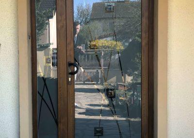 Porte PVC avec vitrage verissima