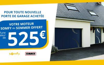 Jusqu'au 2 juillet, la motorisation de votre garage offerte !